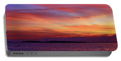 Cape Lookout Lighthouse At Sunrise Portable Battery Charger