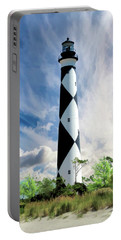 Portable Battery Charger featuring the painting Cape Lookout Lighthouse by Christopher Arndt