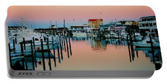 Portable Battery Charger featuring the photograph Cape May After Glow by Steve Karol