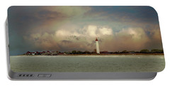 Cape May Lighthouse II Portable Battery Charger by John Rivera