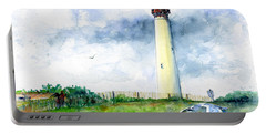 Cape May Lighthouse Portable Battery Charger by John D Benson