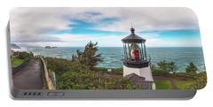 Portable Battery Charger featuring the photograph Cape Meares Bright by Darren White