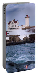Cape Neddick Light At Dusk, York, Maine 21073 Portable Battery Charger