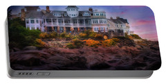 Portable Battery Charger featuring the photograph Cape Neddick Maine Scenic Vista by Shelley Neff
