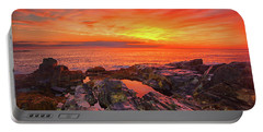 Portable Battery Charger featuring the photograph Cape Neddick Sunrise by Raymond Salani III