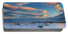 Portable Battery Charger featuring the photograph Cape Porpoise Harbor At Sunset by Rick Berk