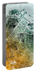 Cape Town South Africa City Street Map Portable Battery Charger