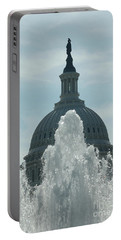 Capital Dome Behind Fountain Portable Battery Charger