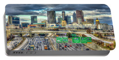 Capital Of The South Atlanta Skyline Cityscape Art Portable Battery Charger