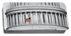 Portable Battery Charger featuring the photograph Capitol Flag by John Schneider