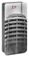 Portable Battery Charger featuring the photograph Capitol Records Building 18 by Micah May