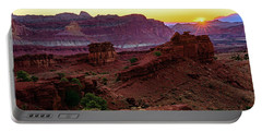 Portable Battery Charger featuring the photograph Capitol Reef Sunrise by John Hight