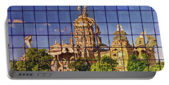 Portable Battery Charger featuring the photograph Capitol Reflection - Iowa by Nikolyn McDonald