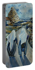 Cappadocia Impressions. Old Friends Portable Battery Charger by Anna Duyunova