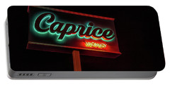 Portable Battery Charger featuring the photograph Caprice Hotel Wildwood by Kristia Adams