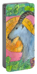 Portable Battery Charger featuring the painting Capricorn by Cathie Richardson