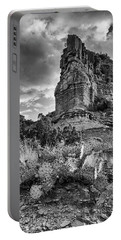 Portable Battery Charger featuring the photograph Caprock And Cactus by Stephen Stookey