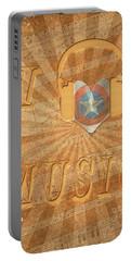 Captain America Lullaby Original Digital Portable Battery Charger by Georgeta Blanaru