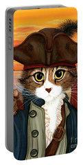 Captain Leo - Pirate Cat And Rat Portable Battery Charger