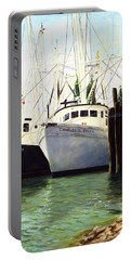 Captains Smith Morehead City North Carolina Original Fine Art Oil Painting Portable Battery Charger
