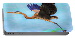 Captiva Crane In Flight Portable Battery Charger by Robert FERD Frank