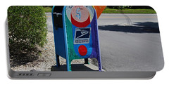 Portable Battery Charger featuring the photograph Captiva Island Mailbox- Horizontal by Michiale Schneider