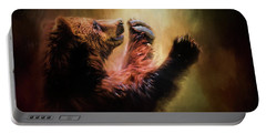 Capturing The Sun Bear Art Portable Battery Charger by Jai Johnson