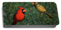 Cardinal Couple Portable Battery Charger