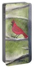 Cardinal In My Pine Tree Portable Battery Charger