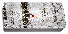 Cardinal In The Snow Portable Battery Charger