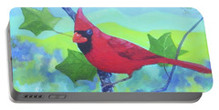 Cardinal On A Branch Portable Battery Charger