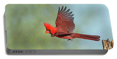 Cardinal On A Mission Portable Battery Charger