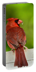 Cardinal Red Portable Battery Charger