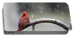Cardinal Snowfall Portable Battery Charger
