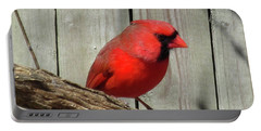 Cardinal Waiting For Spring Portable Battery Charger