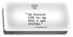 Portable Battery Charger featuring the drawing Care For Animals by Nancy Ingersoll