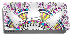 Caregiver Crown Of Hearts Portable Battery Charger