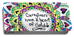 Caregiver Flower Portable Battery Charger