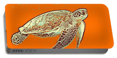 Portable Battery Charger featuring the painting Caretta Caretta Sea Turtle by Asar Studios
