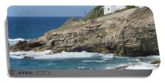 Caribbean Coastal Villa Portable Battery Charger by Margaret Brooks