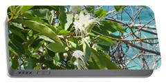 Caribbean Honeysuckle Portable Battery Charger by Margaret Brooks