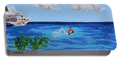 Caribbean Jet Ski Portable Battery Charger by Margaret Brooks
