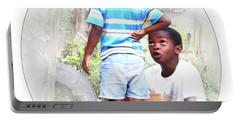 Caribbean Kids Illustration Portable Battery Charger