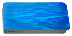 Portable Battery Charger featuring the photograph Caribbean Ocean Abstract by Jetson Nguyen