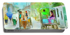 Caribbean Scenes - Carriage Ride Portable Battery Charger