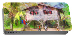 Caribbean Scenes - Country House Portable Battery Charger