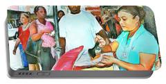 Caribbean Scenes - Doubles Vendor Portable Battery Charger