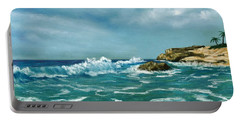 Portable Battery Charger featuring the painting Caribbean Sea by Anastasiya Malakhova