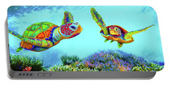 Caribbean Sea Turtle And Reef Fish Portable Battery Charger