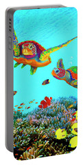 Caribbean Sea Turtles And Reef Fish Vertical Portable Battery Charger